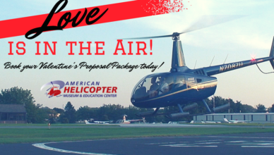 Book a Valentine's Day Proposal Helicopter Ride at AHMEC