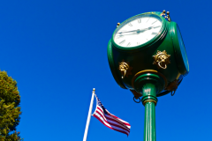 The Malvern Clock and Old Glory in Burke Park