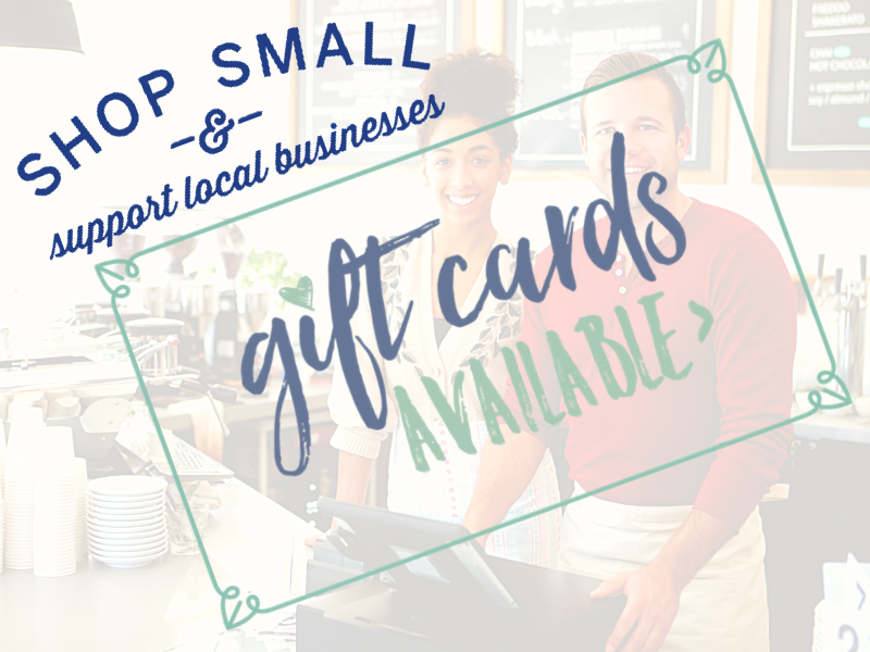 Local Businesses offering Gift Cards