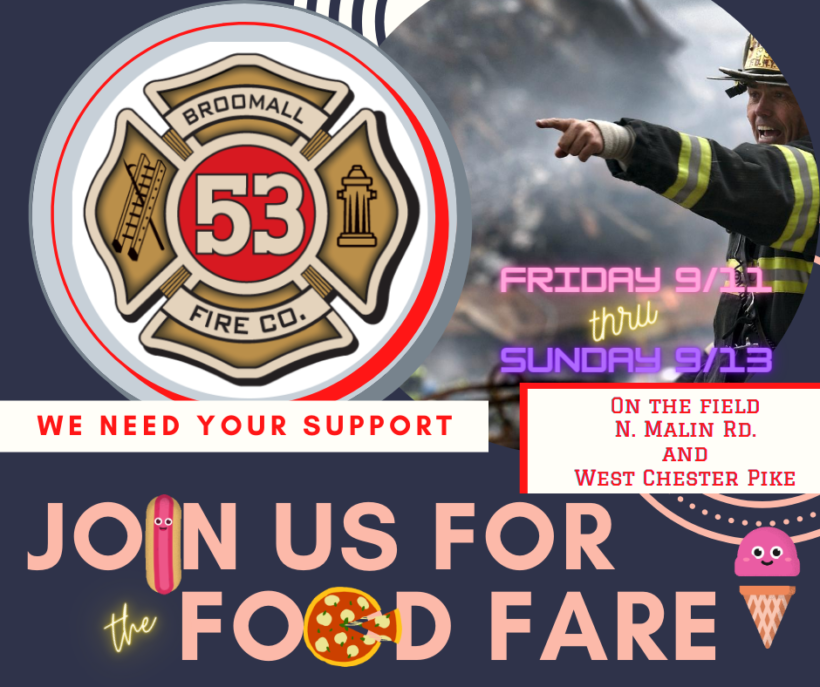 Broomall Fire Company Food Fare